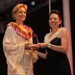 roxanne darling winning an award