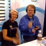 Roxanne Darling and Robert Scoble doing a podcast interview  at BlogWorld