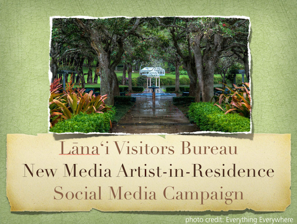 cover of 2011 report on the Lanai Visitors Bureau blogger program
