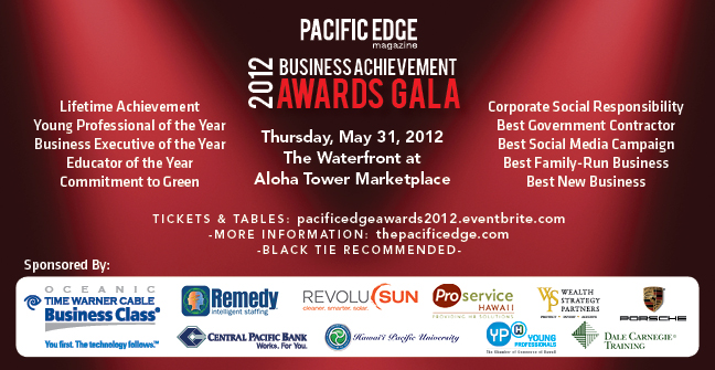 Pacific Edge Magazine Awards announcement