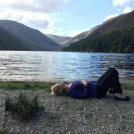 Napping by the upper lake at Glendalough