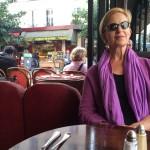 Rox at a Paris cafe