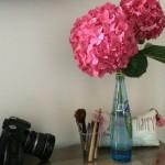 Travel Moment: fresh flowers from the neighborhood garden shop