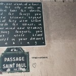 Words on the wall; Paris is for writers