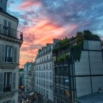OMG sunset from our room in Paris. Linger on the details.